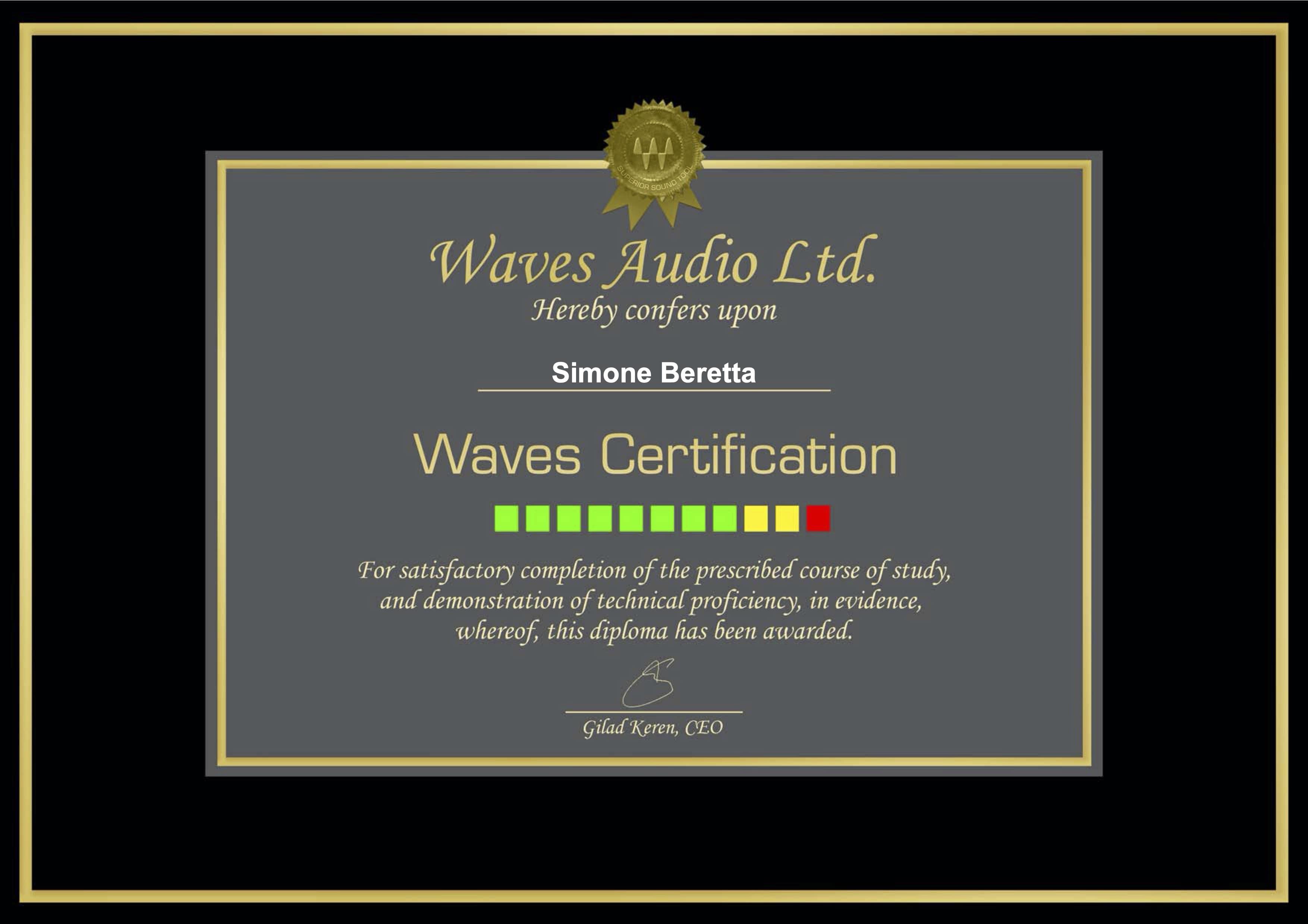 attestato waves