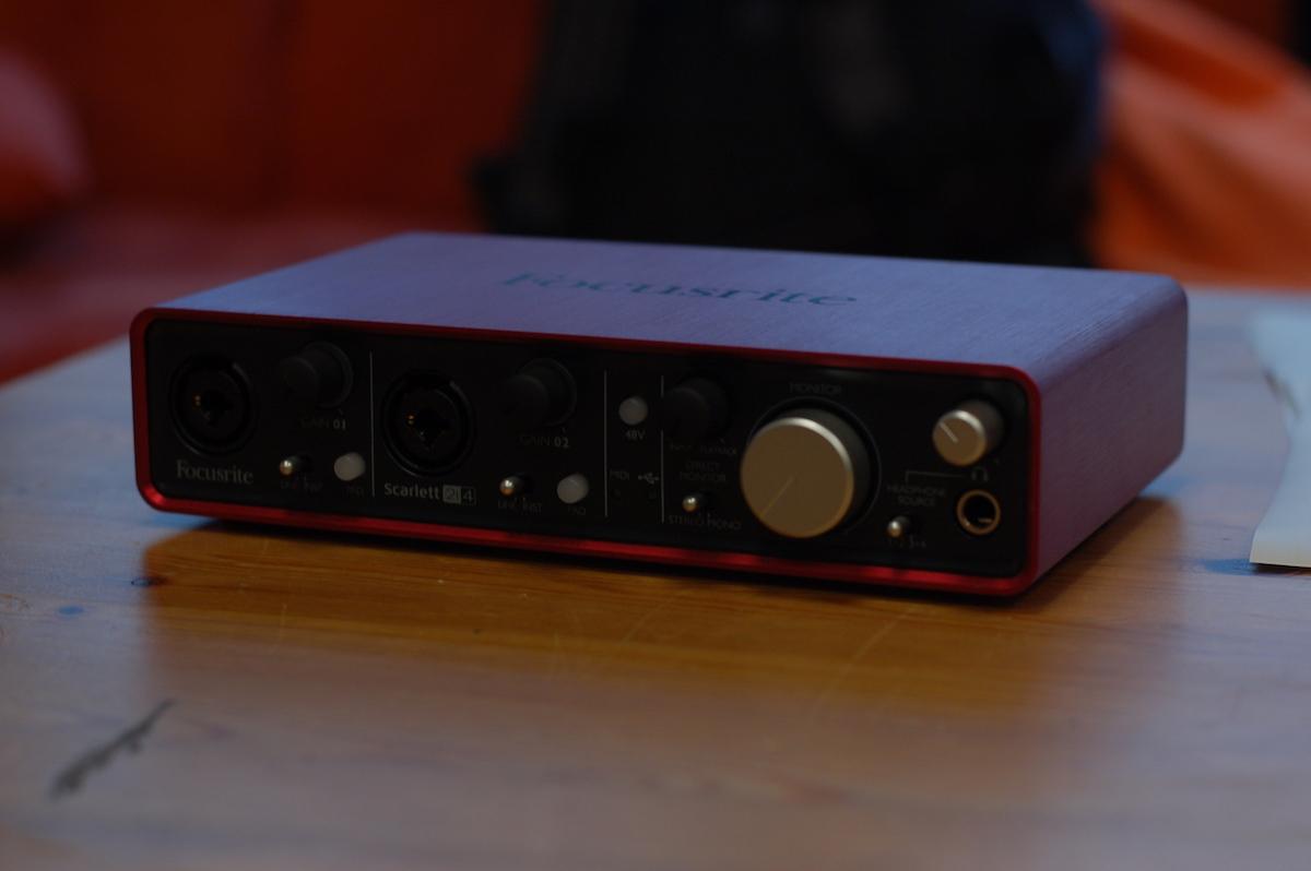 focusrite scarlett 2i2 come registrare musica in casa